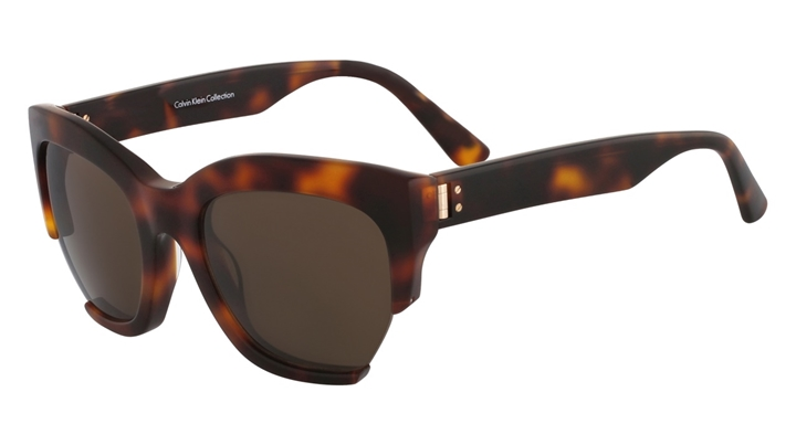 Classic Cool -- Tortoiseshell acetate sunglasses by Calvin Klein