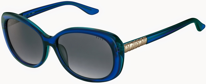Contemporary and Chic - Tortoiseshell sunglasses accented with striped temples by Barbour