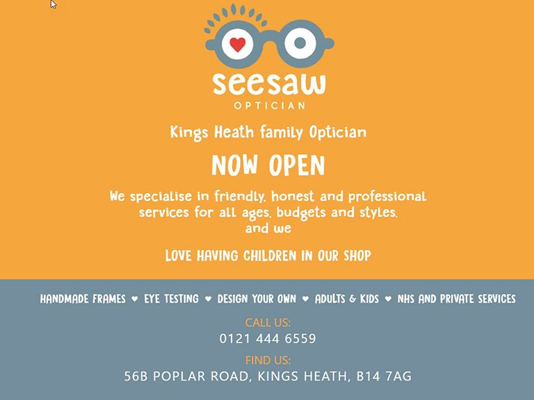 seesaw-opticians-birmingham-kingsheath